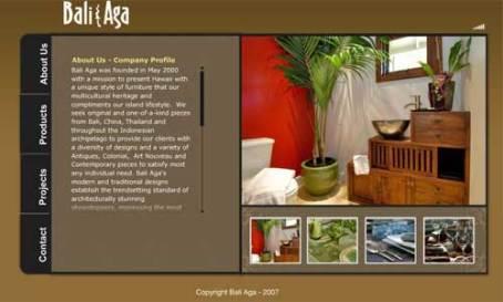 bali-aga web interface