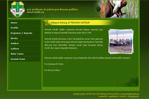 pemuda katolik web interface